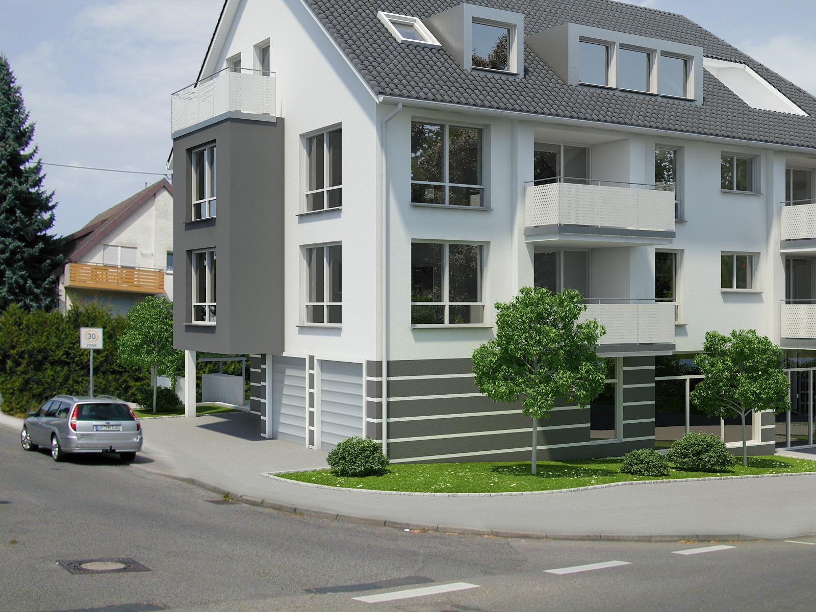 Regiebau gmbh modernes mehrfamilienhaus im herzen von for Mehrfamilienhaus neubau